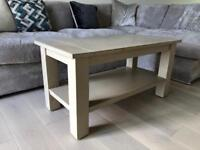 Solid wood painted coffee table / TV unit