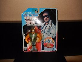 Vintage WWF Hasbro Wrestling Figure - Repo Man - carded