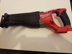 Milwaukee 2720-20 M18v FUEL Li-Ion Sawzall Recip Saw Cordless Tool Body 2017 New