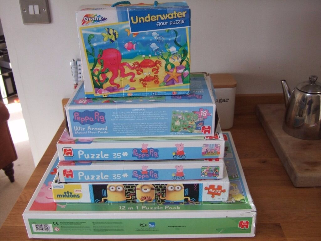 Various jigsaws, Peppa, Minions, Graffix Underwater and morein Duffield, DerbyshireGumtree - Grandmas collection of Minions, Peppa Pig, Underwater Graffix jigsaws and more, all used but complete and in really good condition. Sadly outgrown