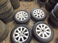 "VW PASSAT B5 15"" ALLOY WITH TYRES"