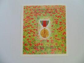 1995 Liberia - $2 Lest We Forget Stamp Minisheet