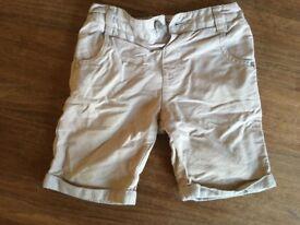 2-3 year beige shorts