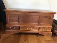 Bespoke Solid Wood Chest/Box /Blanket Box with 3 drawers * VERY HEAVY*