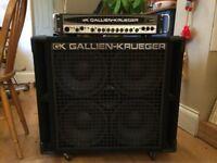 Gallien-Krueger Full Rig 1001 RB 700W Bass Head and 410 RBH 800W 4x10 Bass Cab, 8 Ohm
