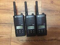 Motorolla walkie talkies