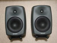Pair of Genelec 8040A Active Studio Monitors / Speakers - original stands and boxes