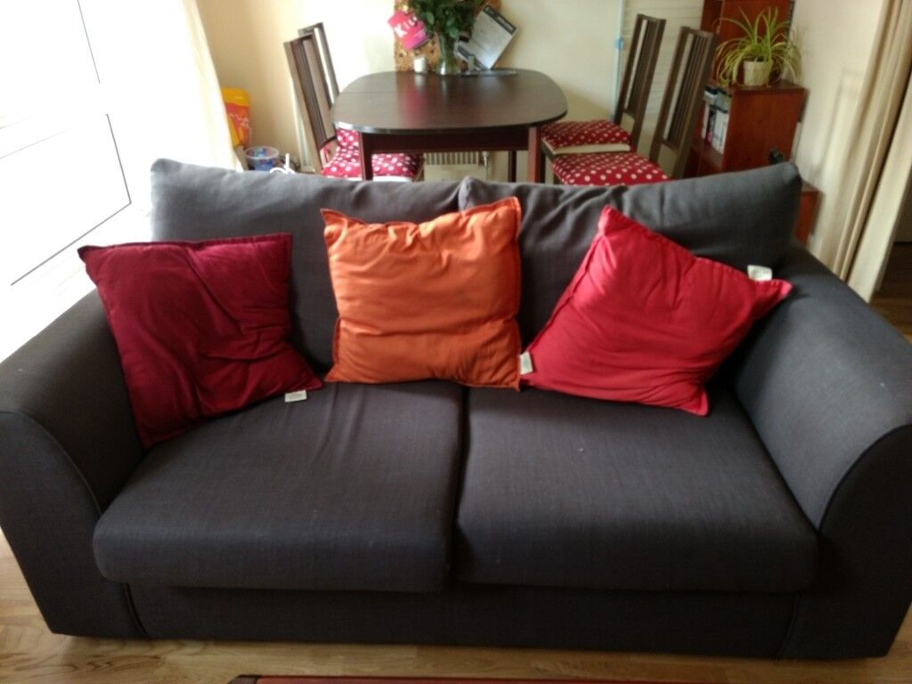Marvelous 2 Person Brown Sofa From John Lewis In Kilburn London Ncnpc Chair Design For Home Ncnpcorg