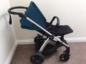 Mamas and Papas Sola 2 Pushchair/stroller petrol blue with accessories