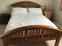 Barker and Stonehouse wood double bed frame