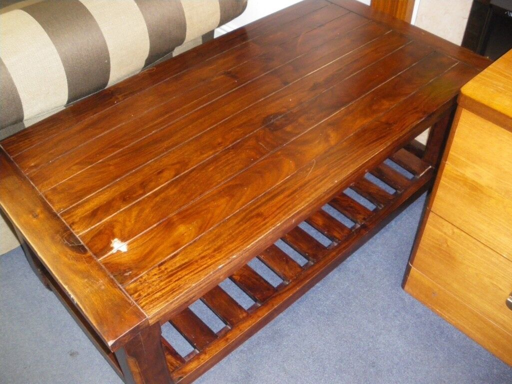 Heavy Wooden Coffee Table At Haven Housing Trust S Charity
