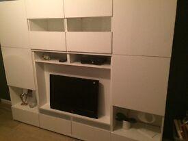 Large white glossy unit