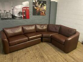 REAL LEATHER CORNER SOFA IN EXCELLENT CONDITION