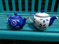Pair of Whittards tea pots