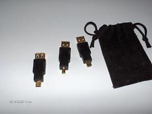 #348 TROIS CONNECTEURS POUR CLÉS USB OU AUTRES $9