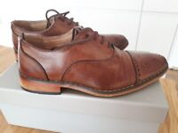 Boys leather shoes, brown. Child size 13, very good condition