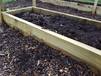 Tanalised Beams Ideal For Raised Beds