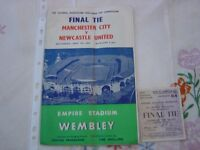Rare - 1955 Final Tie Football program. Manchester City V Newcastle United.