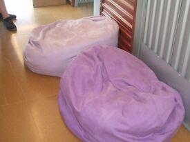 2 x Large Bean Bags, Purple