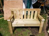 Home made park bench