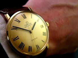 Sublime Rare 1968 Luxury OMEGA 18K AUTOMATIC 565 CHAMPAGNE Vintage Retro Mens Dress Watch