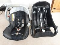 Graco junior car seat rear facing and isofix base