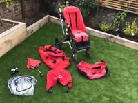 Bugaboo Cameleon 1 transport system in red with accessories