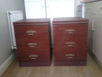 TWO SETS OF DRAWERS - BEDSIDE CABINETS
