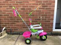 Smart Trike In Original Pink & White In VGC With Instructions, Unused Straps, Stickers & Tools.