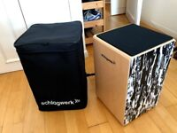 Schlagwerk CP4017 Cajon - Black Eyes + FREE BAG !! Good As New !!