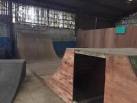 BMX SKATEBOARD SCOOTER RAMPS QUARTER PIPE HALF 6FT HIGH