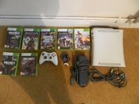 Xbox 360 with 7 awsome games !!! (hard drive not included)