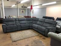 Harvey's Brooklyn power electric recliner sofa