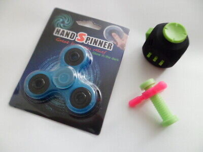 Novelty Gag Gifts Fidget Toys Lot of 3 Boys/Girls Spinner ~ Cube ~ Pencil Topper](Fidget Pencil Toppers)
