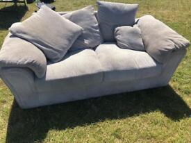 2 seater areo sofa velvet like fabric like new 3 months old