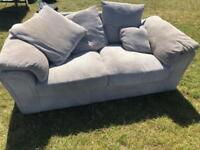 2 seater areo sofa velvet like fabric like new 3 months old