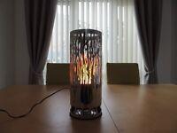 Round Vine Brazier - Silk Flame Lamp - as new.