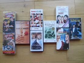 9 CLASSIC VHS VIDEOS ~ TOP TITLES ~ 9 FOR £4