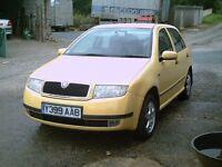 2001 Skoda Fabia 1.4, 5 door hatch in Yellow.