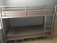 Silver Bunk bed for sale.Excellent condition