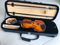 3/4 violin and full size case from Scayles