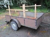 large frame open box trailer