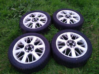 ROVER 75 MGZT Serpent Alloys & Practically New 225 45R 17 Tyres, Set of 4