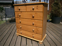 Farmhouse Solid Pine Chest Of 6 Drawers Shabby Chic Project