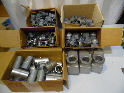 140 New Pc Electrical Metal Conduit Connectors Bridgeport Mixed Lot 5 Boxes Usa