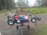 Motor track kart