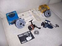 Job Lot of vintage fishing reels...Mitchell Match 440a/Abu 503/Shakespeare Beaulite/Intreped Rimfly