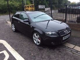 "2004 54 AUDI A3 S LINE 2.0 TDI AUTO LEATHER 18"" ALLOYS FULL MOT FULL SERVICE HISTORY"