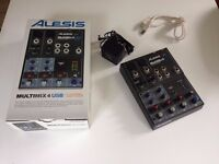 Alesis Multimix 4 USB 4 channel usb mixer complete with all cables and original packaging