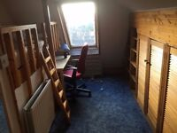 Furnished large single attic room